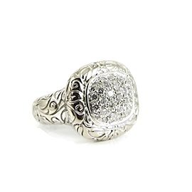 SeidenGang 18K White Gold .70tcw Pave Diamond Laurel Ring