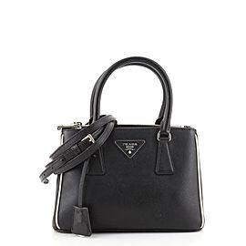 Prada Double Zip Lux Tote Saffiano Leather Mini