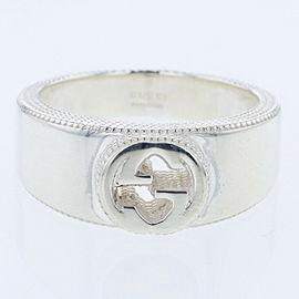 GUCCI Interlocking G 925 Silver Ring TBRK-300