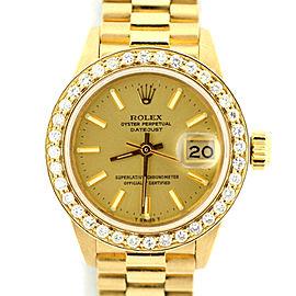 Rolex Presidential Datejust Diamond Yellow Dial 18K Yellow Gold 26mm Watch