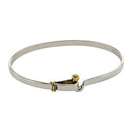 Tiffany & Co. 925 Sterling Silver and 18K Yellow Gold Hook & Eye Bracelet