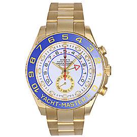 Rolex Yacht-Master II 116688 18K Yellow Gold White Dial 44mm Mens Regatta Watch