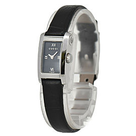 GUCCI 8600L Black Dial SS/Leather Quartz Ladies Watch