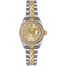 Rolex Datejust 69173 18K Yellow Gold 26mm Womens Watch
