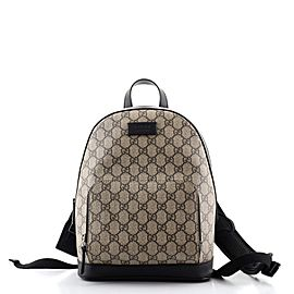 Gucci Zip Pocket Backpack GG Coated Canvas Small