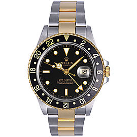 Rolex GMT Master II 16713 Stainless Steel / 18K Yellow Gold Automatic 40mm Mens Watch