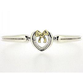 Tiffany & Co. 18K Yellow Gold Sterling Silver Heart Bow Bracelet