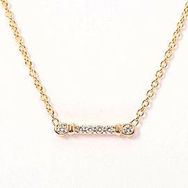 TIFFANY & Co. 18k pink gold Diamond Fleur de lis stem Necklace