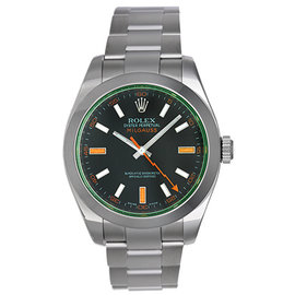 Rolex Green Milgauss 116400V Stainless Steel Automatic 40mm Men's Watch