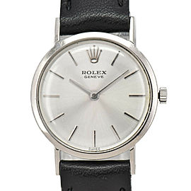 ROLEX Cherini Cal.1600 18k WG Silver Dial Hand Winding Ladies Watch