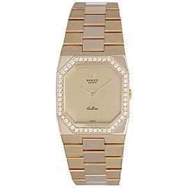 Rolex Cellini 4650 18K Yellow Gold with Diamond Bezel 27mm Unisex Watch