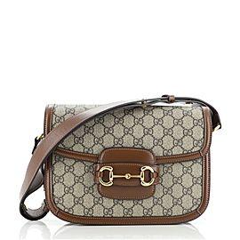 Gucci 1955 Horsebit Shoulder Bag GG Coated Canvas Small