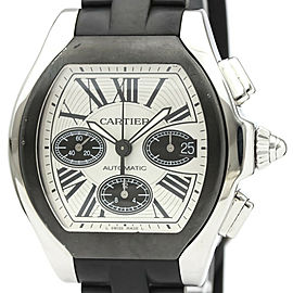 Polished CARTIER Roadster S Chronograph Steel Automatic Watch W6206020
