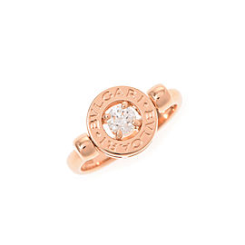 Bulgari 18K Rose Gold Diamond Ring Size 4.5