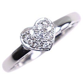 18k white gold/diamond heart Ring NST-464