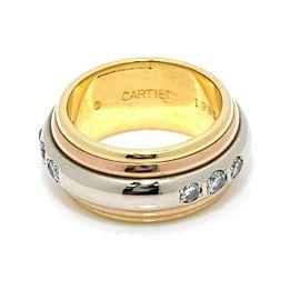Cartier 18K gold Saturn Diamond Ring