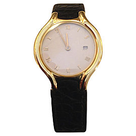 Ebel Beluga 18K Yellow Gold and Leather 31mm Quartz Women Watch
