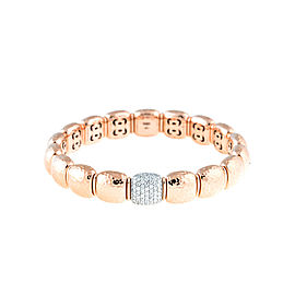 Stretch Collection 18K Two Tone Gold Diamonds Bracelet