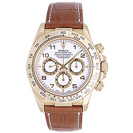 Rolex Zenith Daytona 16518 18K Yellow Gold & Leather Automatic 40mm Mens Watch