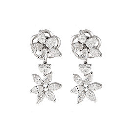 Unique Collection 18K White Gold Diamonds Earrings