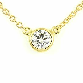 Tiffany & Co. 18K Yellow Gold Diamond By The Yard Necklace Pendant CHAT-194