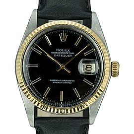 Rolex Datejust 1601 Stainless Steel / Leather Automatic 36mm Mens Watch