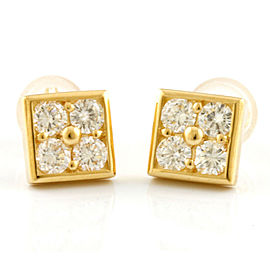K18 Gold Diamond: 8 stones earring