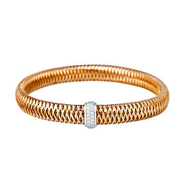 Roberto Coin Primavera 18K Rose Gold 0.22ct Diamond Bracelet