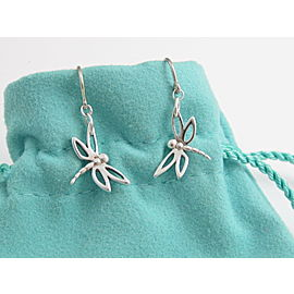 Tiffany & Co Silver RARE Dragonfly Dangle Dangling Earring