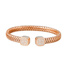 Roberto Coin Primavera 18K Rose Gold 0.50ct Diamond Bangle Bracelet