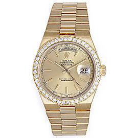 Rolex 19018 President Yellow Gold & Diamond 36mm Mens Watch