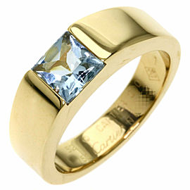CARTIER 18K Yellow Gold Tank aqua Ring