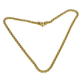 David Yurman 18K Yellow Gold Wheat Chain Necklace
