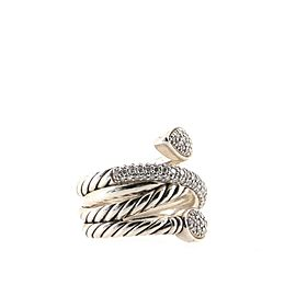 David Yurman Renaissance Pave Coil Ring Sterling Silver with Diamonds