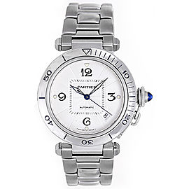 Cartier Pasha W31031H3 Stainless Steel Silver Dial Automatic 38mm Men's Watch