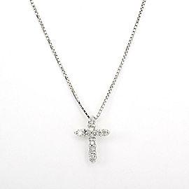 Platinum and Diamond Cross Necklace