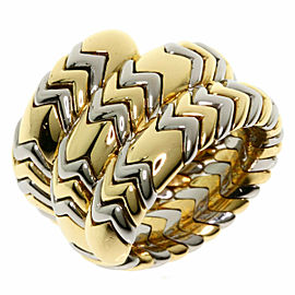 BVLGARI 18K Yellow Gold Stainless Steel Tubogas Ring