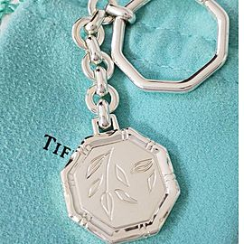 Tiffany & Co. Sterling Silver Lucky Bamboo Key Ring
