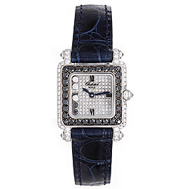 Chopard Happy Diamonds 276852-1025 18K White Gold Diamonds 23mm Womens Watch