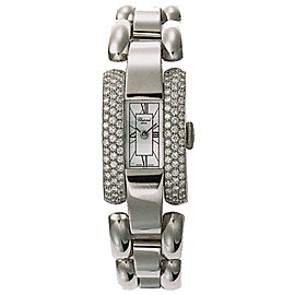 Chopard La Strada 416547-1001 18K White Gold Diamond 18mm Womens Watch