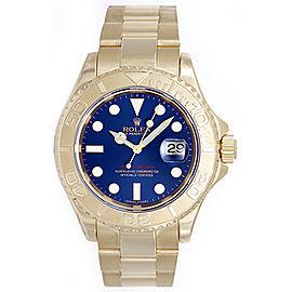 Rolex Yacht-Master 16628 18K Yellow Gold Blue Dial 40mm Mens Watch