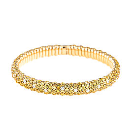 Stretch Collection 18K Yellow Gold Diamonds and Sapphires Bracelet