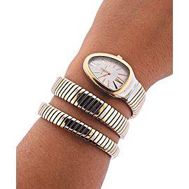 Bulgari Tubogas Serpenti Two-Tone Watch Wrap Bracelet SP 35 SPG