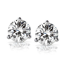 Diamond Stud Earrings 1 Carat (ctw) in 14K White Gold