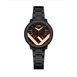 Fendi Run Away 28mm Two Tone Brown Dial Watch F713222000
