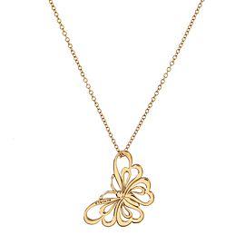 Tiffany & Co. Butterfly motif Pendant Nekclace Necklace 18K Rose Gold