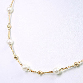 4.5mm Pearl Necklace K18 yellow gold/Pearl Women