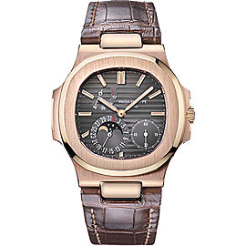 Patek Philippe 5712R 18K Rose Gold / Leather 38mm Mens Watch