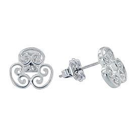 Tiffany & Co. Paloma Picasso Sterling Silver Venezia Goldoni Triple Earrings