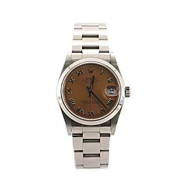 Rolex Oyster Perpetual Datejust Automatic Watch Stainless Steel 31